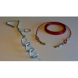 Piquet et cable de 4m